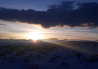 Sunset With Snow at Thacker Pass