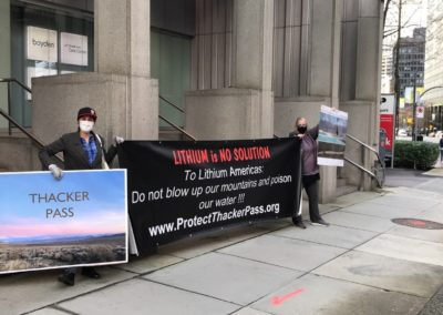 Protect Thacker Pass at Lithium Americas Headquarters in Vancouver BC