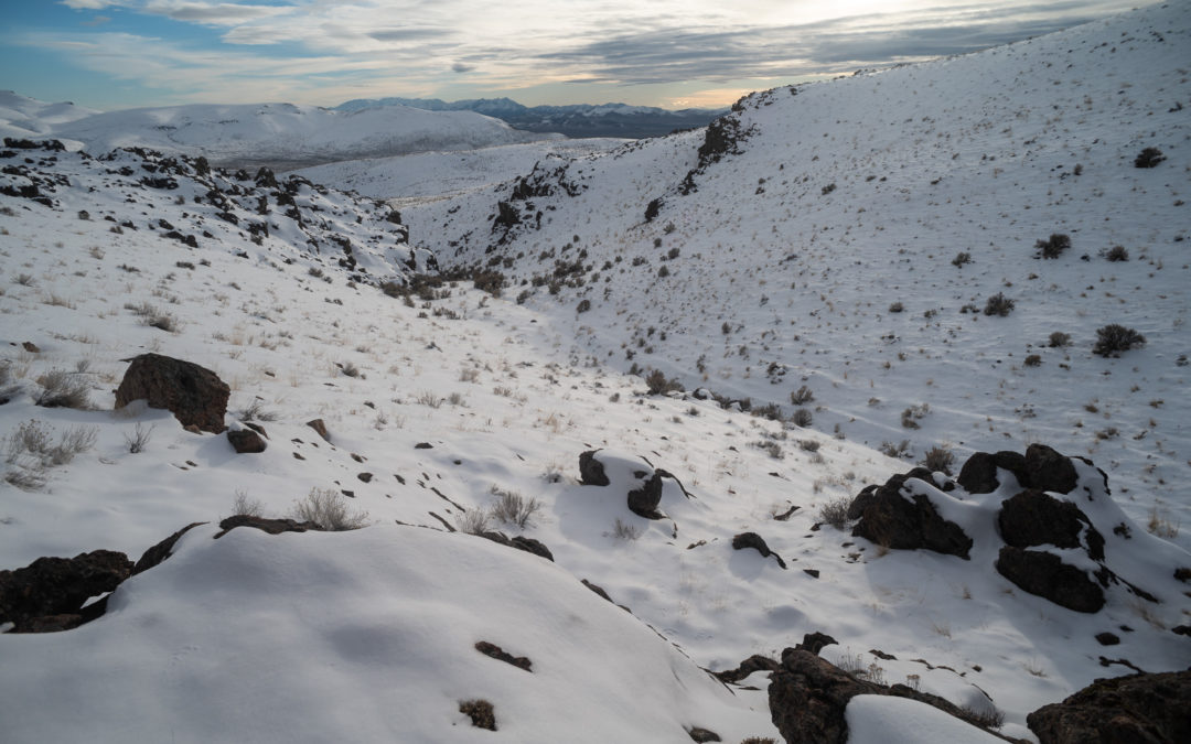 Snow on the ground at Thacker Pass