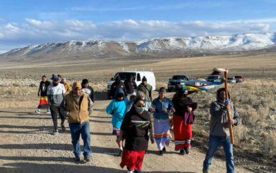 Fort McDermitt Paiute and Shoshone Tribal Members Protest Thacker Pass Lithium Mine