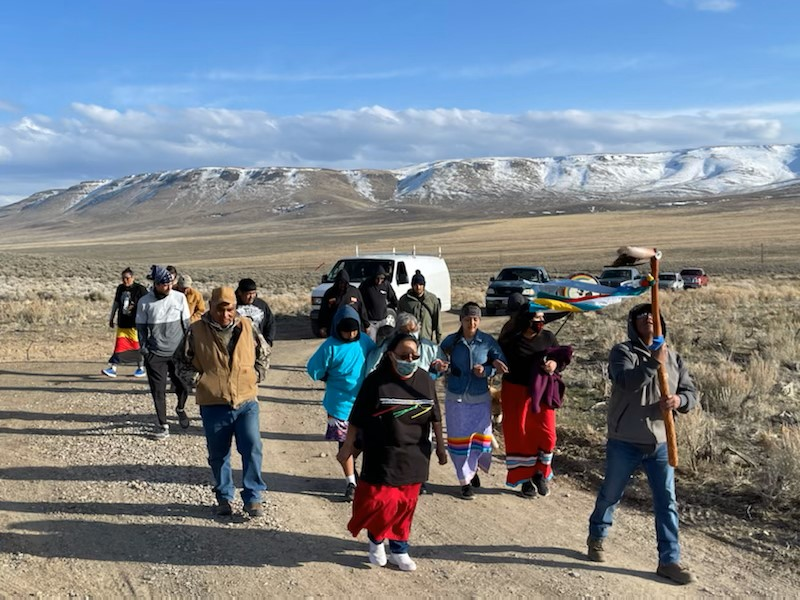 Fort McDermitt Paiute and Shoshone Tribal Members Protest Thacker Pass Lithium Mine
